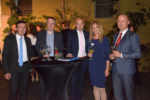 (From left) Boris Koprivnikar, Vice Premier of the Republic of Slovenia, Mark Parsons, Executive Director at EPCC, University of Edinburgh, Martin Mössler, CEO of Science Park and ESA BIC Graz, Urška Starc-Peceny and Tomi Ilijaš, both Arctur.